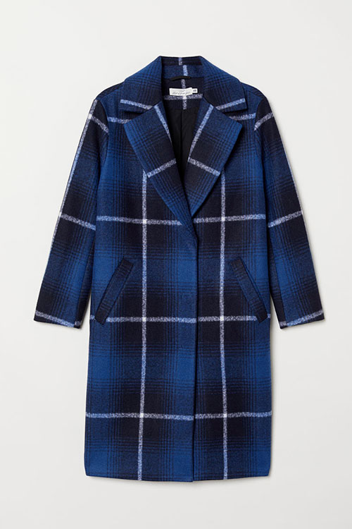 baju tartan dari H&M warna Biru