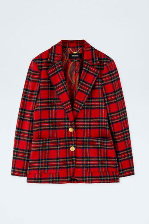 baju tartan dari Pull&Bear warna Merah dan Hitam